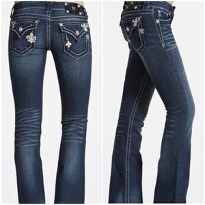 Miss Me Fleur and Cross Rhinestone Bootcut Jeans